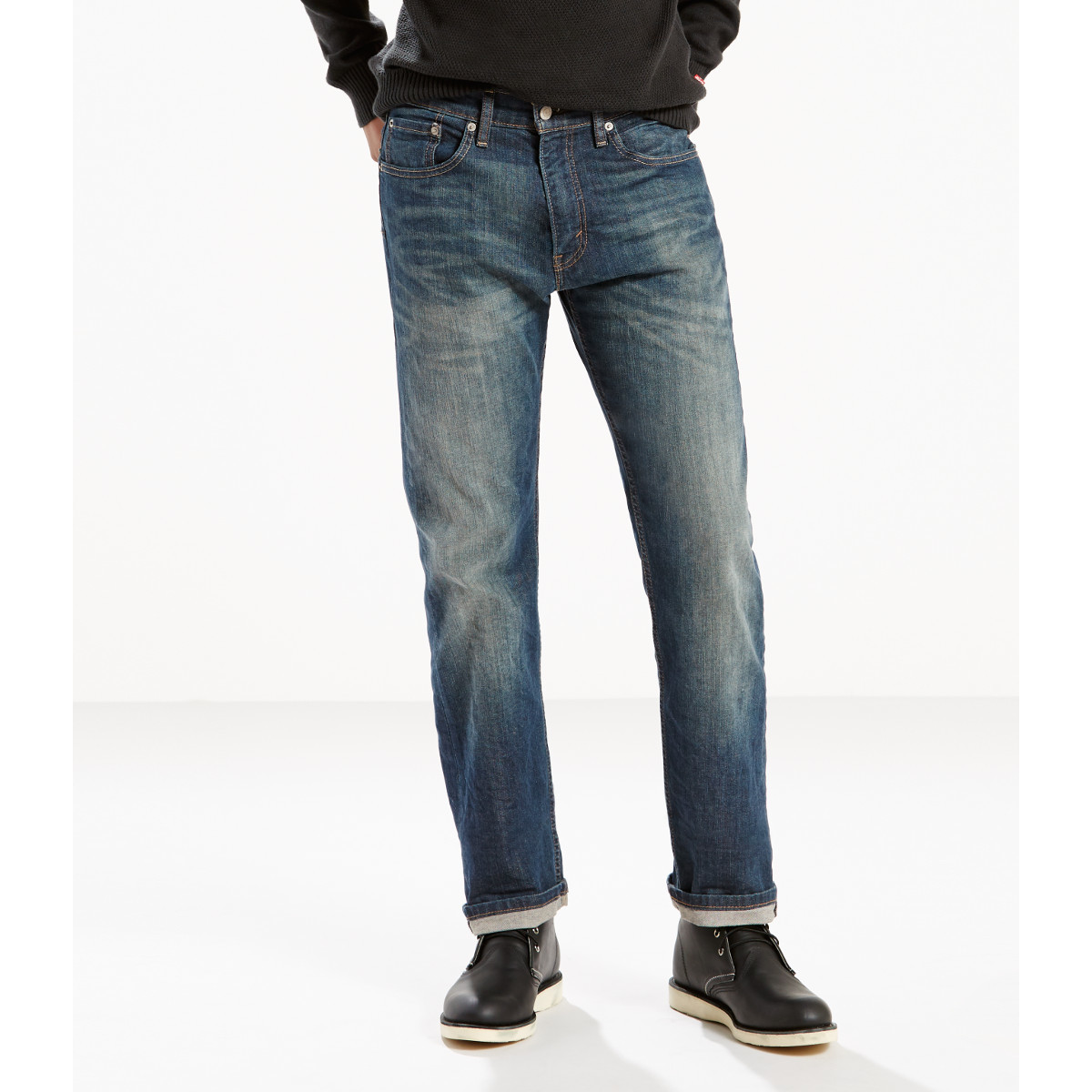 Levi's Men's 505 Regular Fit Jeans - Blue, 35/32