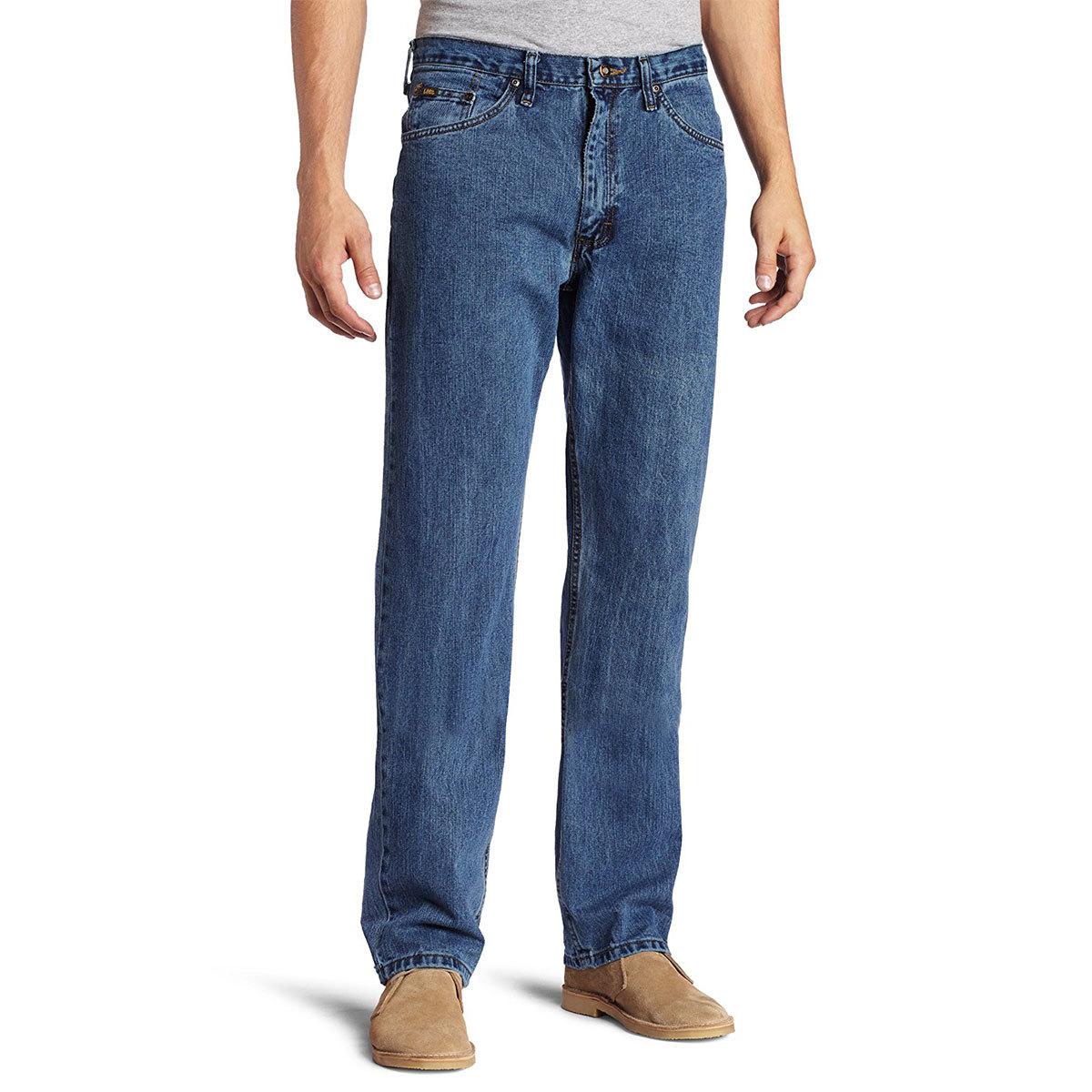 LEEA Premium Select Regular Straight Leg Jeans - Blue, 33/32