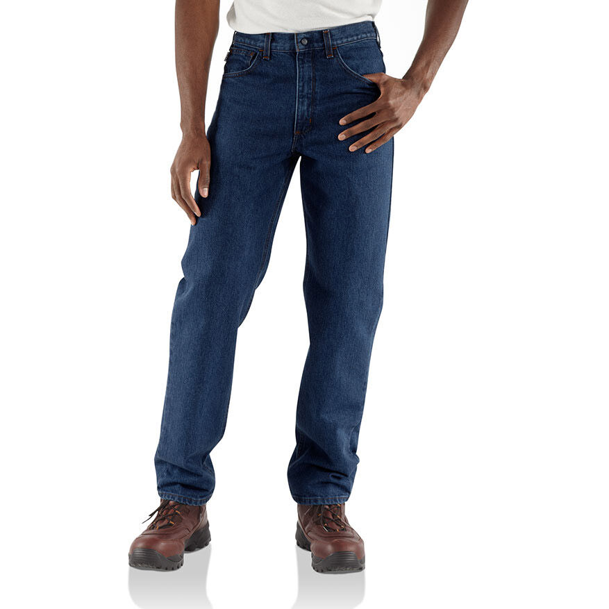 Carhartt Men's Flame Resistant Relaxed Fit Jeans - Blue, 35/34
