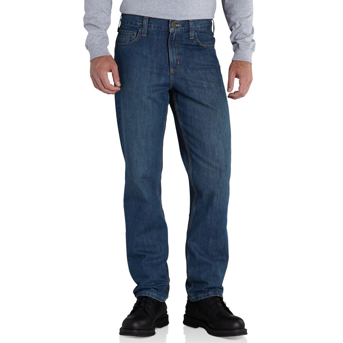 Carhartt Men's Elton Straight Fit Jeans - Blue, 33/36