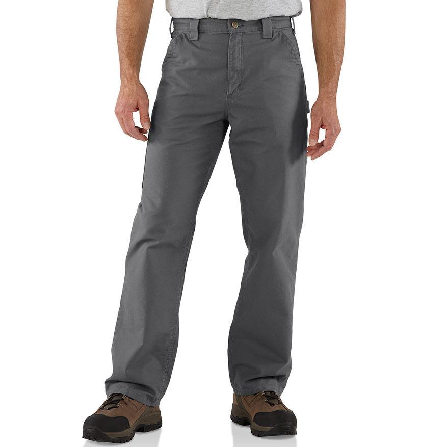 Carhartt Men's Canvas Utility Work Pants, Extended Sizes - Green, 46/30