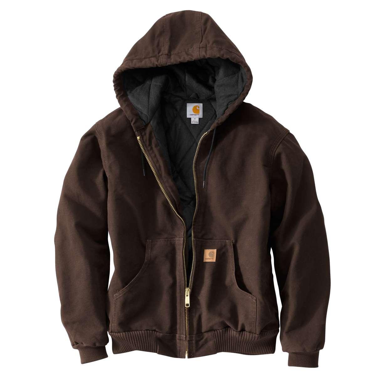 Carhartt Men's Sandstone Duck Jacket, Extended Sizes - Brown, 3XL