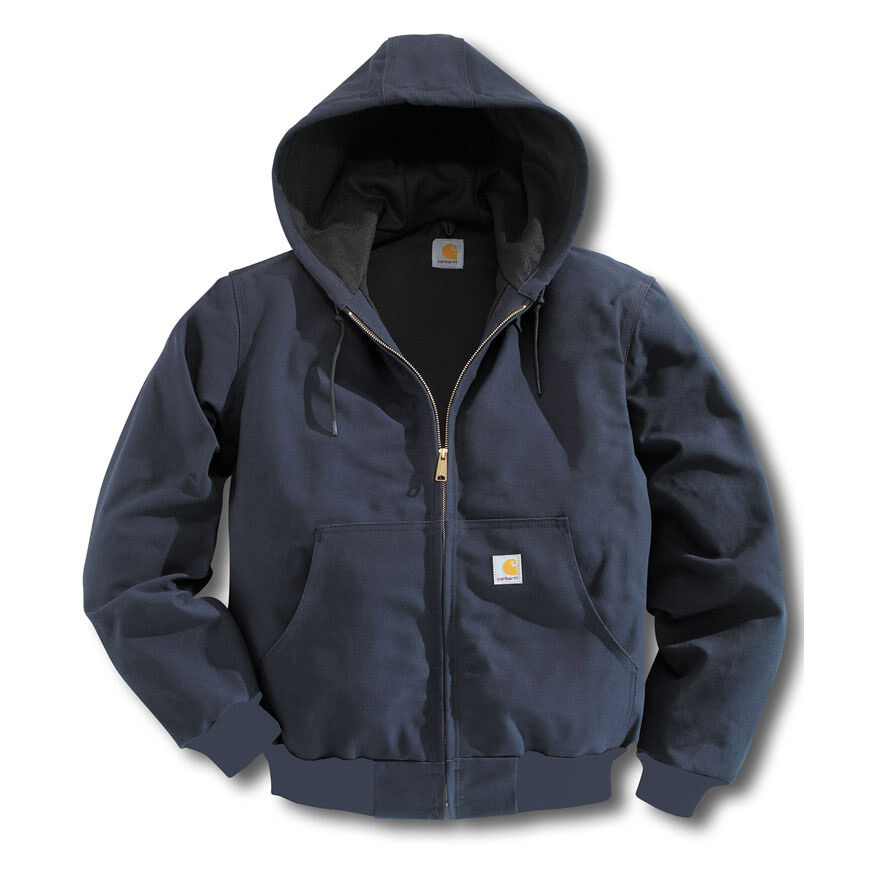 Carhartt Men's Duck Active Thermal Lined Jacket, Extended Sizes - Blue, L TALL