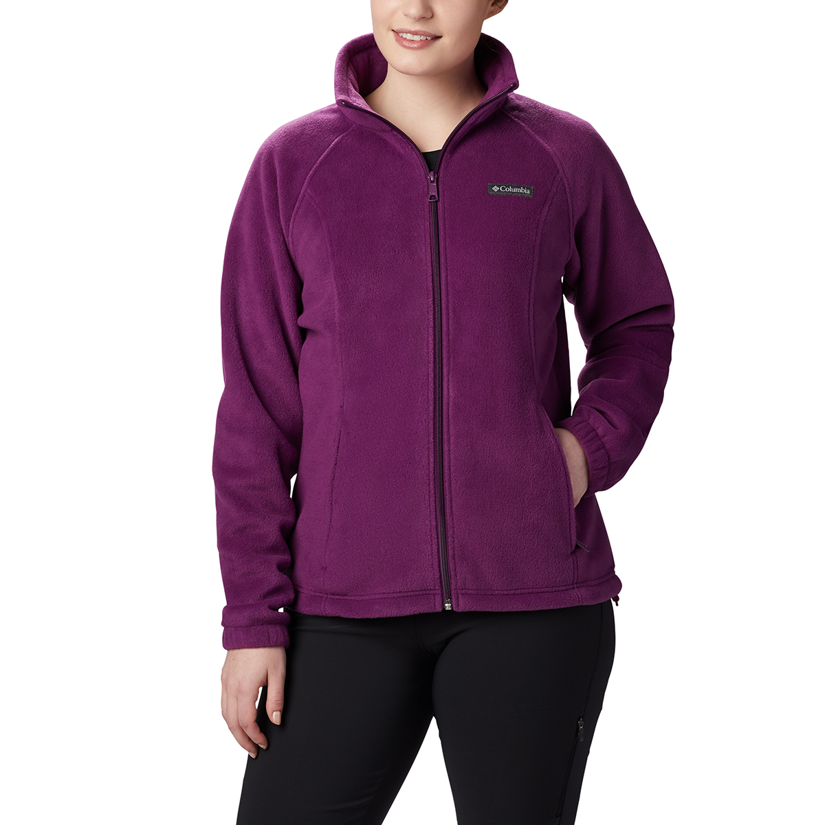 Columbia Women's Benton Springs Fleece Jacket - Purple, L