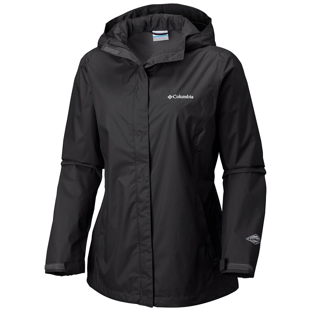 Columbia Women's Arcadia Rain Jacket - Black, XS