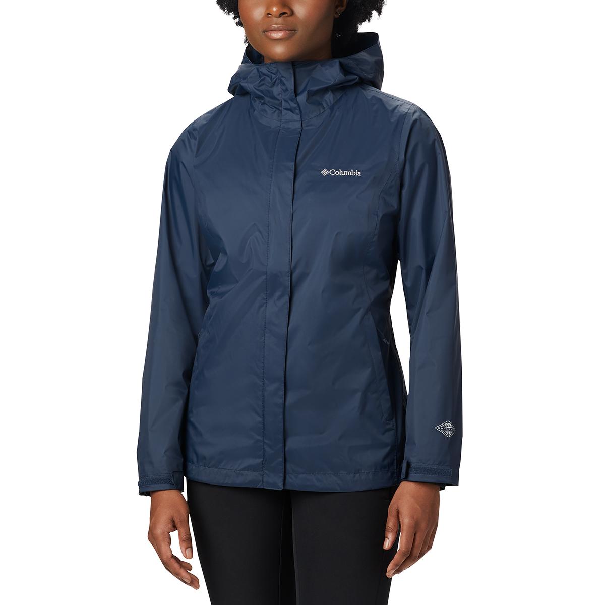 Columbia Women's Arcadia Rain Jacket - Blue, XS
