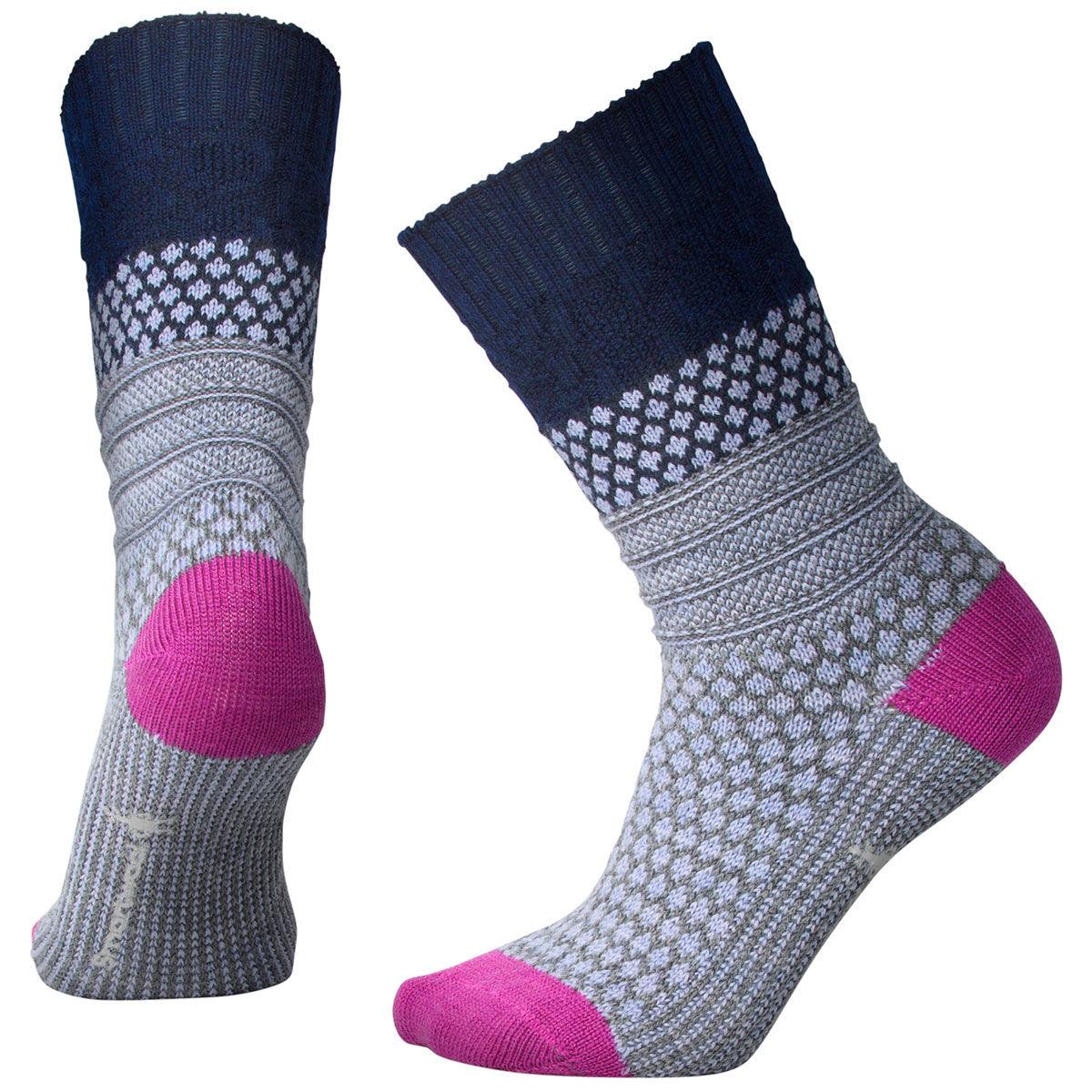 Smartwool Women's Popcorn Cable Socks - Blue, S