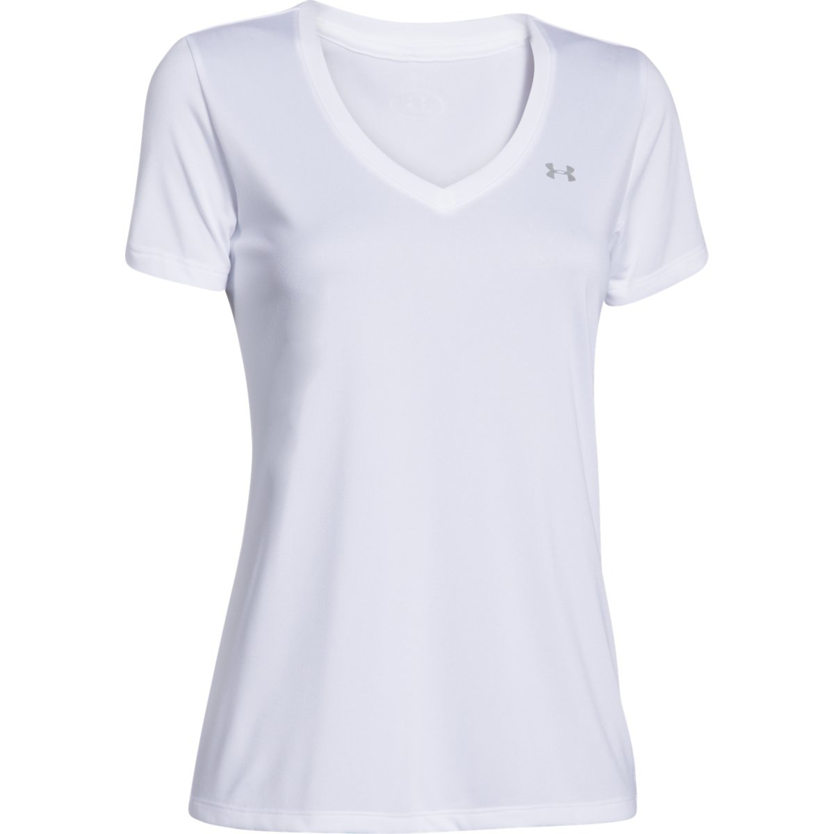 Under Armour Women's Ua Tech V-Neck Tee - White, S