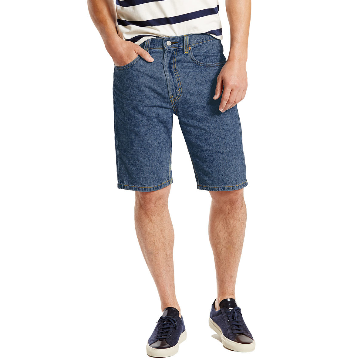 Levi's Young Men's 505 Regular Fit Denim Shorts - Blue, 30