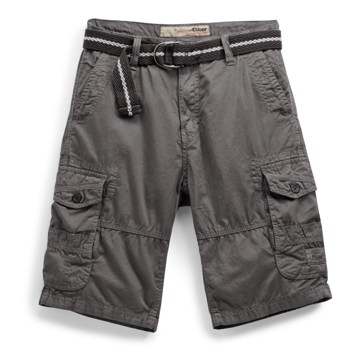 Plugg Guys' Fiction Lightweight Twill Cargo Shorts - Black, 29