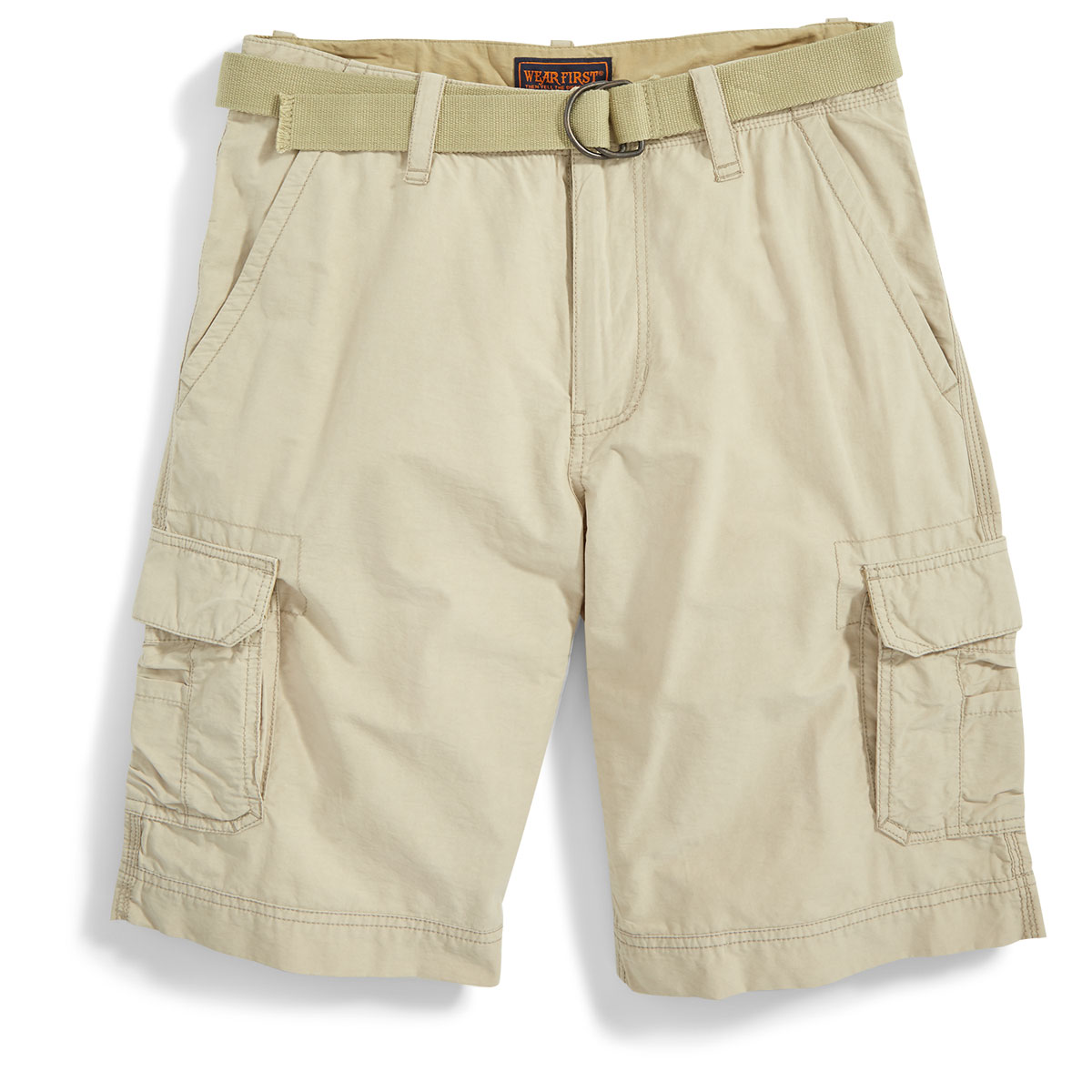 Wear First Guys' Belted Cargo Shorts - White, 29