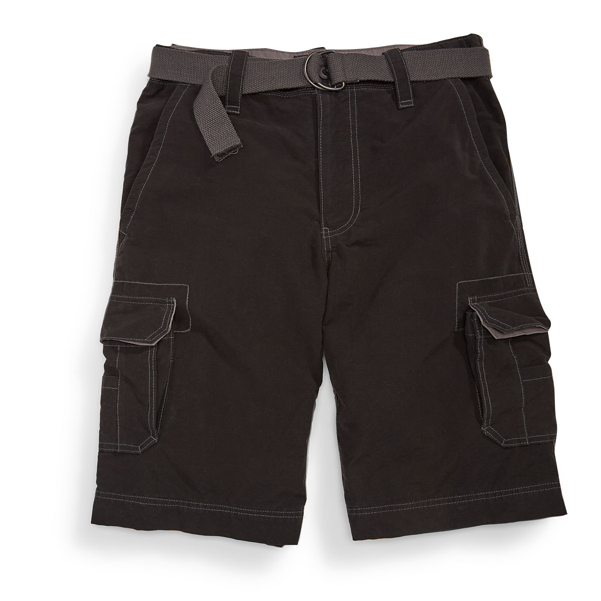 Wear First Guys' Belted Cargo Shorts - Black, 29