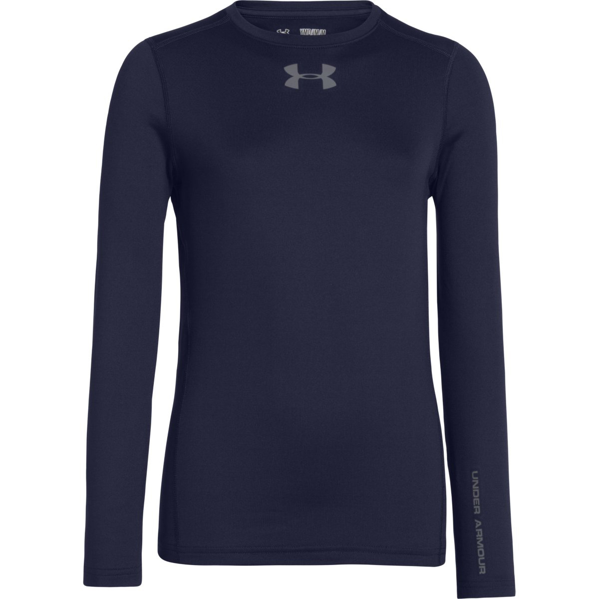 Under Armour Boys Ua Coldgear Armour Fitted Crew - Blue, L
