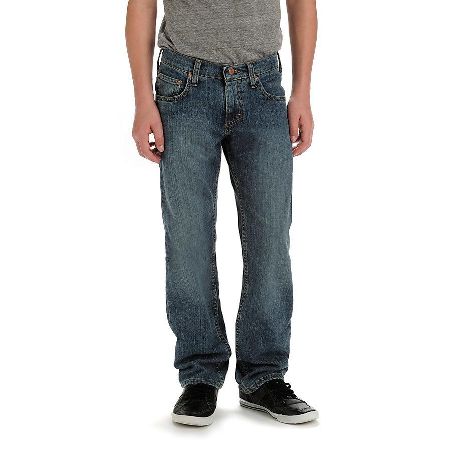LEE Boy's Premium Select Straight Fit Jeans - Blue, 12