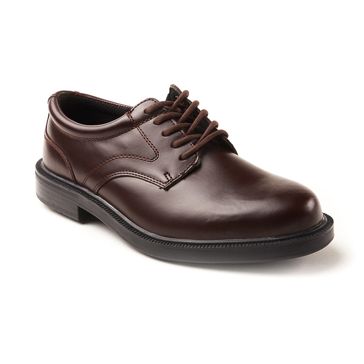 Deer Stags Men's Times Plain Toe Oxford Dress Shoe - Brown, 7.5
