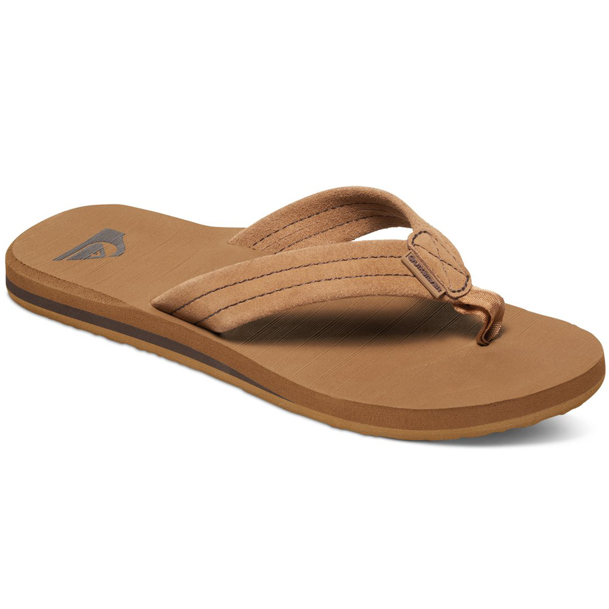 Quiksilver Men's Carver Suede Sandals - Brown, 12