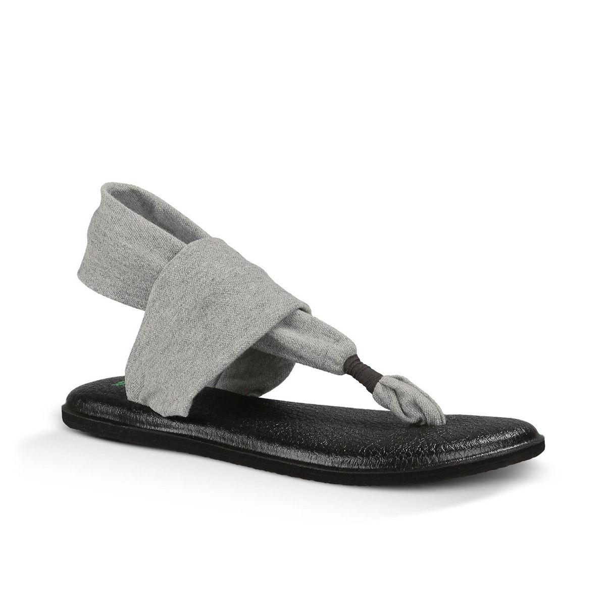 Sanuk Women's Yoga Sling 2 Flip-Flops - Black, 11