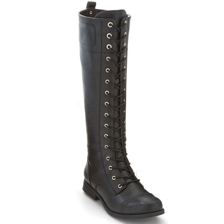 XOXO Juniors' Bonnie Tall Lace-Up Boots