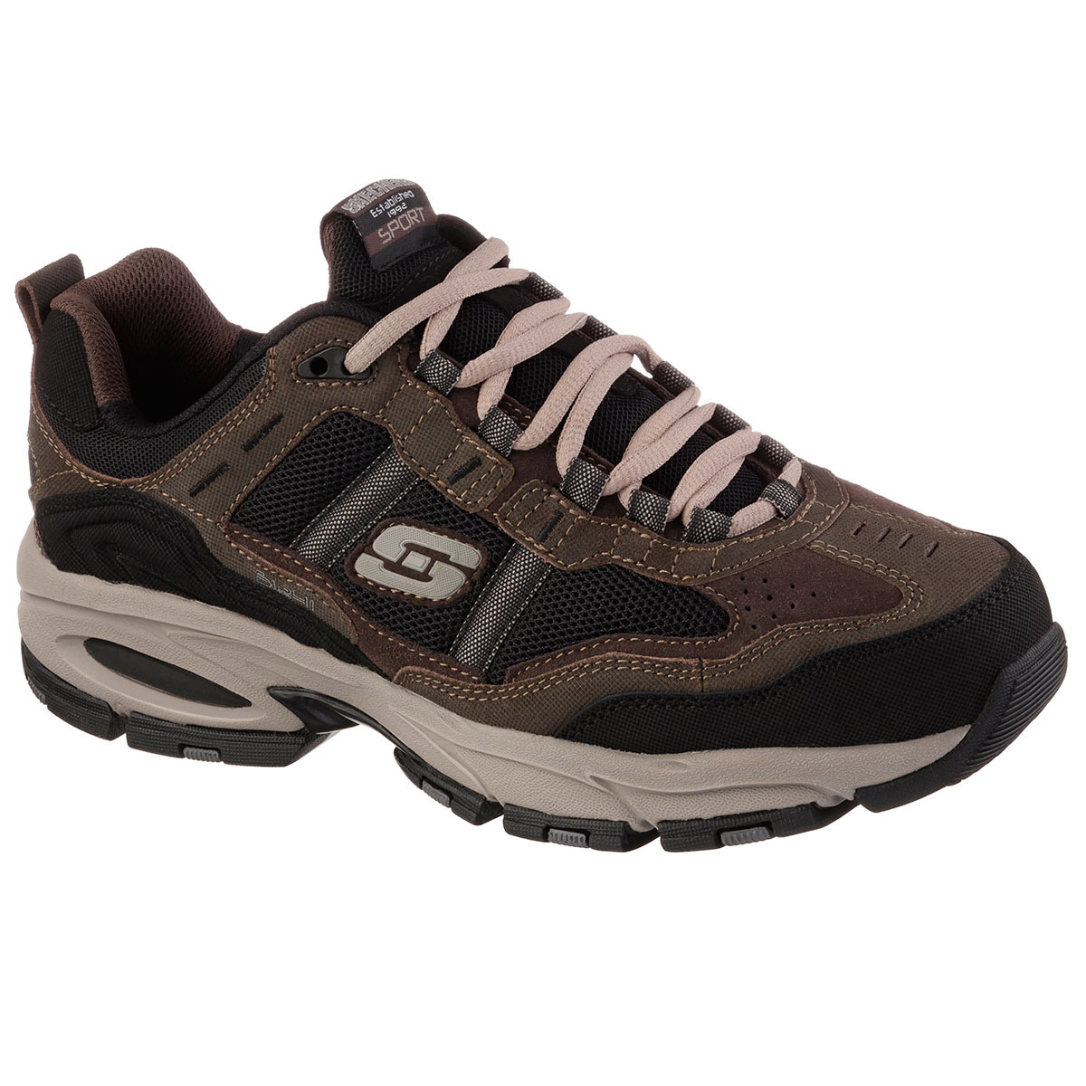Skechers Men's Vigor 2.0 Trait Shoes - Wide - Brown, 13