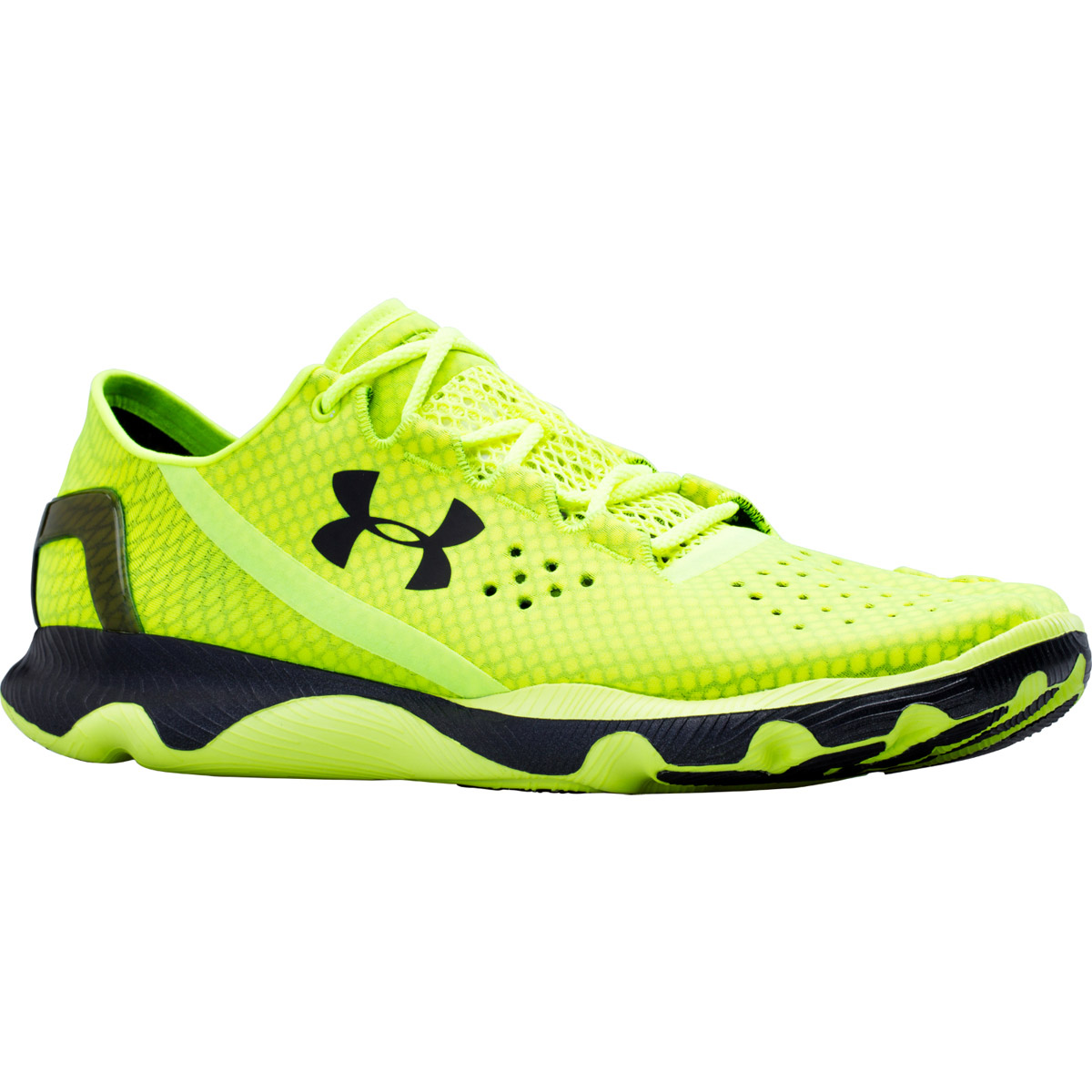 neon yellow under armour shoes