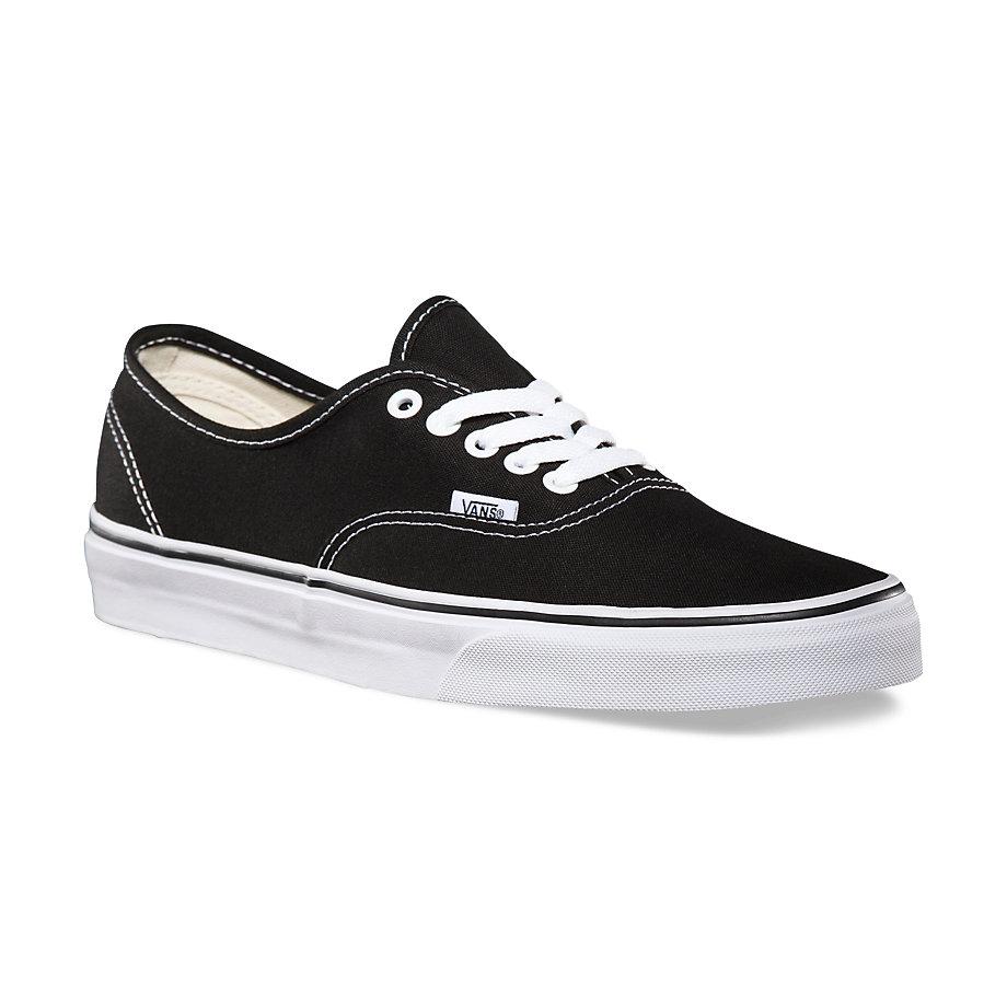 Vans Men's Authentic Shoes - Black, 6
