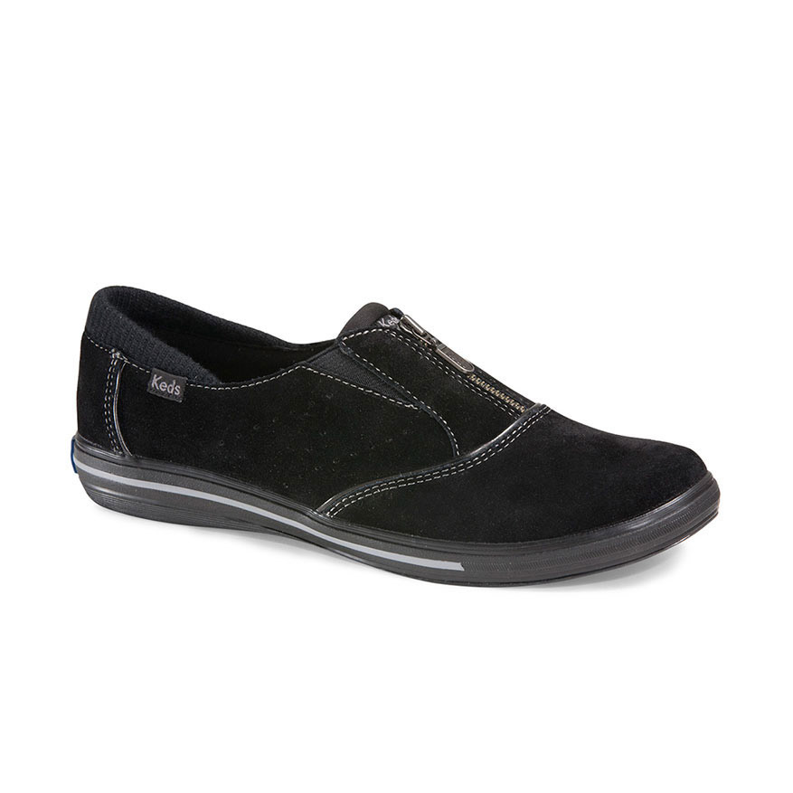 KEDS Women's Pacey Zip Suede Shoes