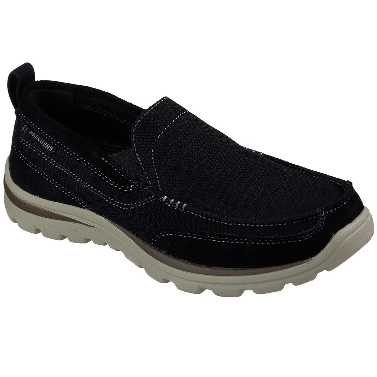 Skechers Men's Relaxed Fit: Superior- Milford Slip-On Shoes - Black, 8.5