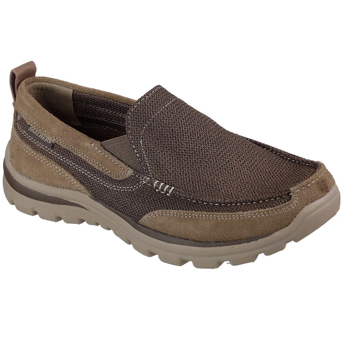 Skechers Men's Relaxed Fit: Superior- Milford Slip-On Shoes - Brown, 9.5
