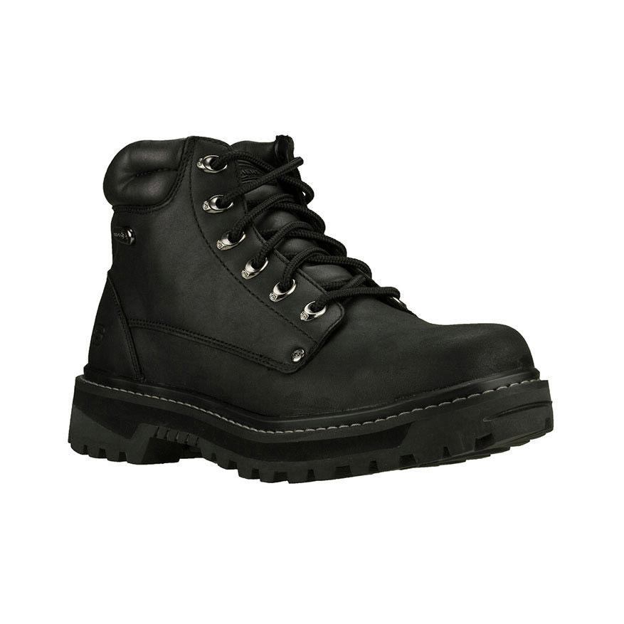 Skechers Men's Pilot Boots, Wide Width - Black, 14