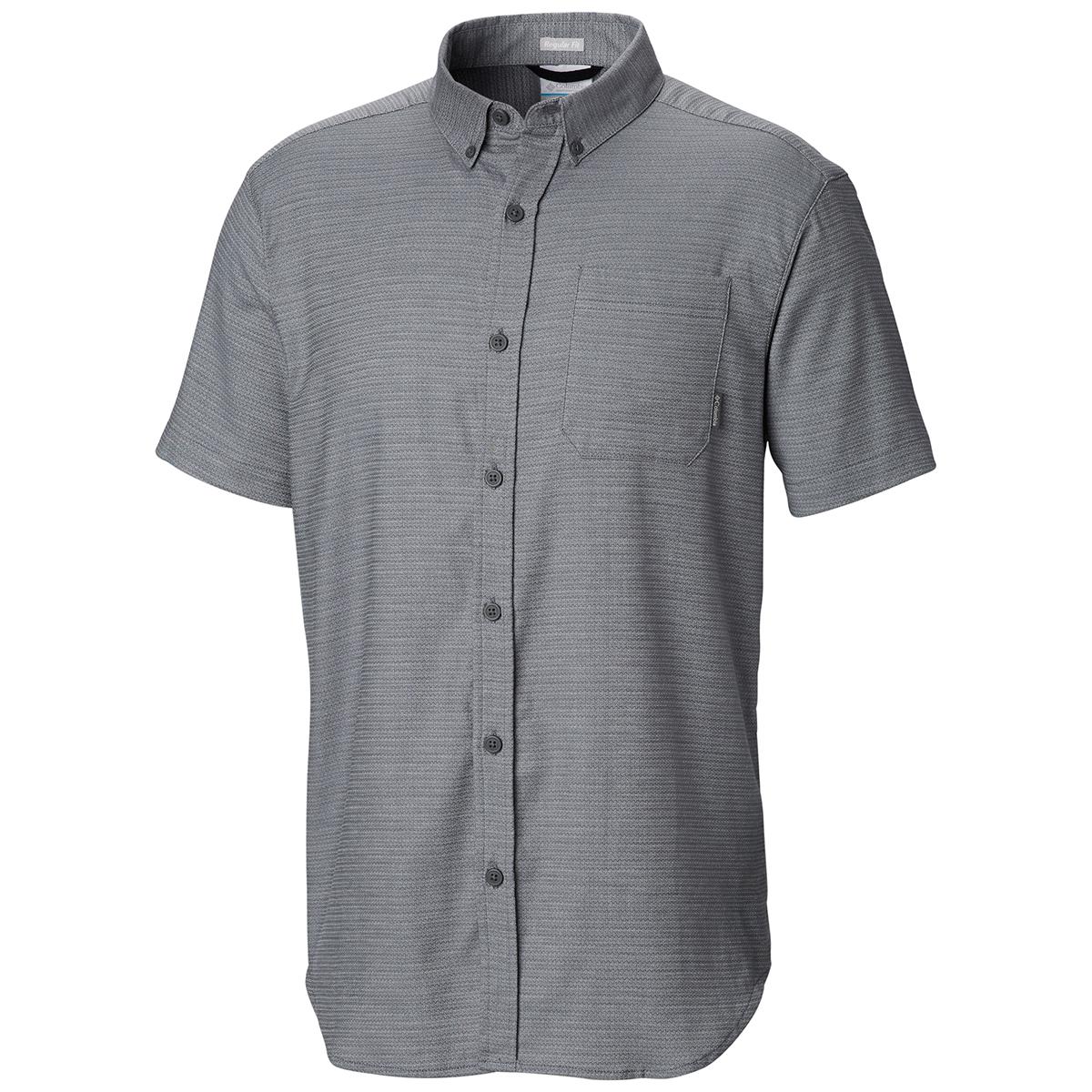 Columbia Men's Rapid Rivers Mirage Short-Sleeve Shirt - Black, S