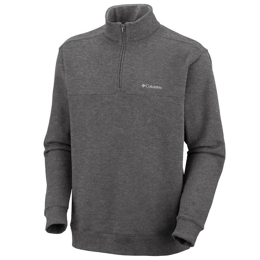 Columbia Men's Hart Mountain Quarter Zip Pullover Sweatshirt - Black, S