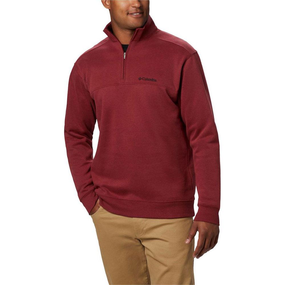 Columbia Men's Hart Mountain Quarter Zip Pullover Sweatshirt - Red, L