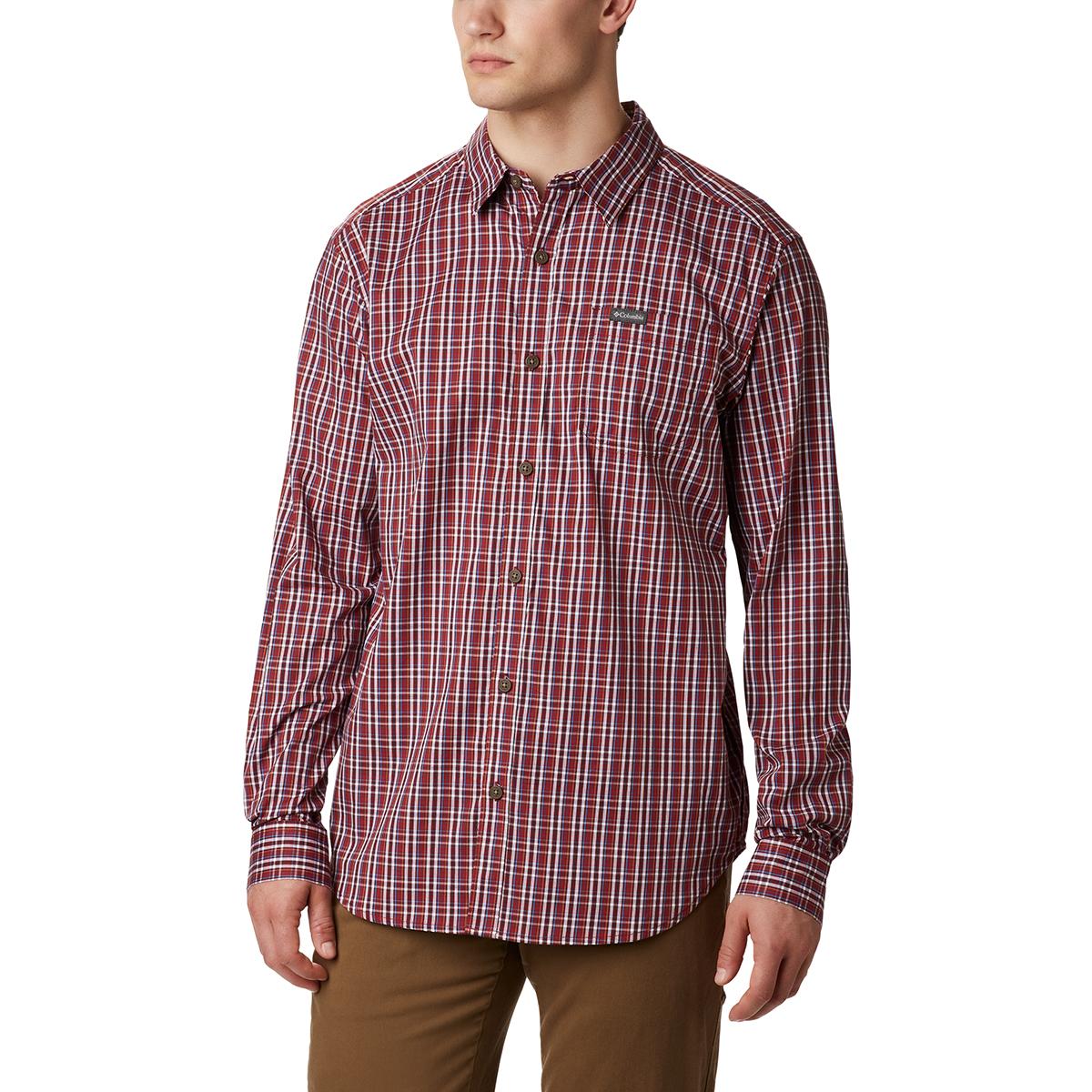 Columbia Men's Vapor Ridge Iii Long-Sleeve Shirt - Red, XL