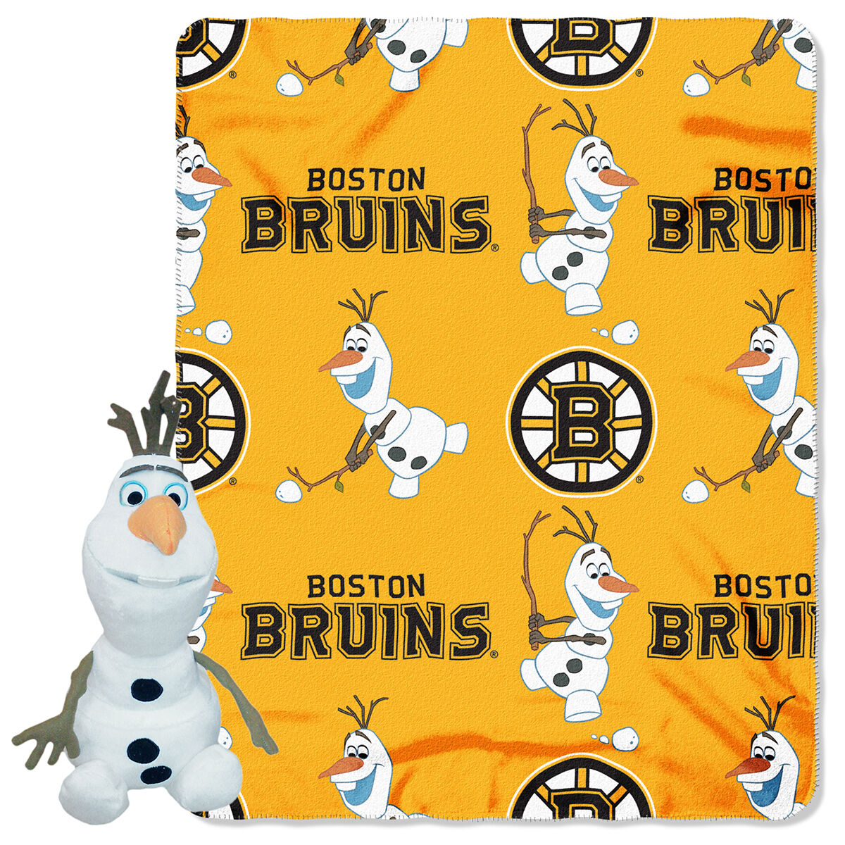 Boston Bruins Olaf Hugger With  Plush Blanket