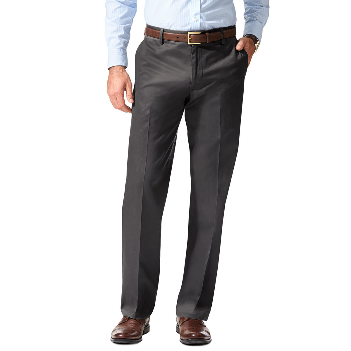 Dockers Men's Signature Stretch Straight Leg Khakis - Discontinued Style - Black, 30/34