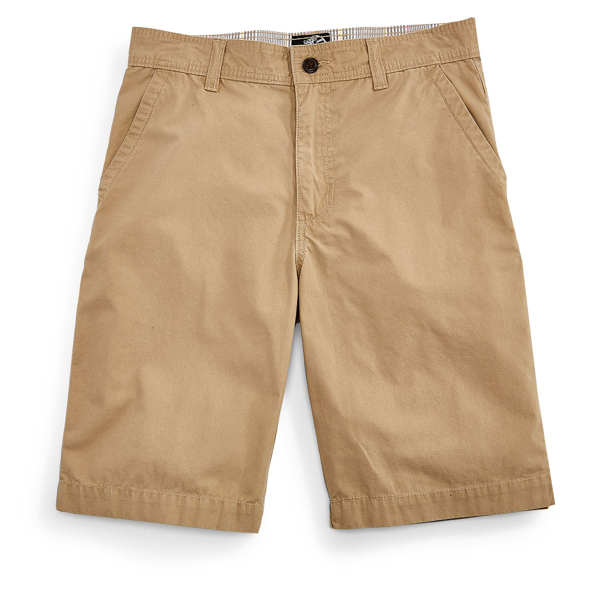 D55 Guys' Flat Front Shorts - Brown, 30