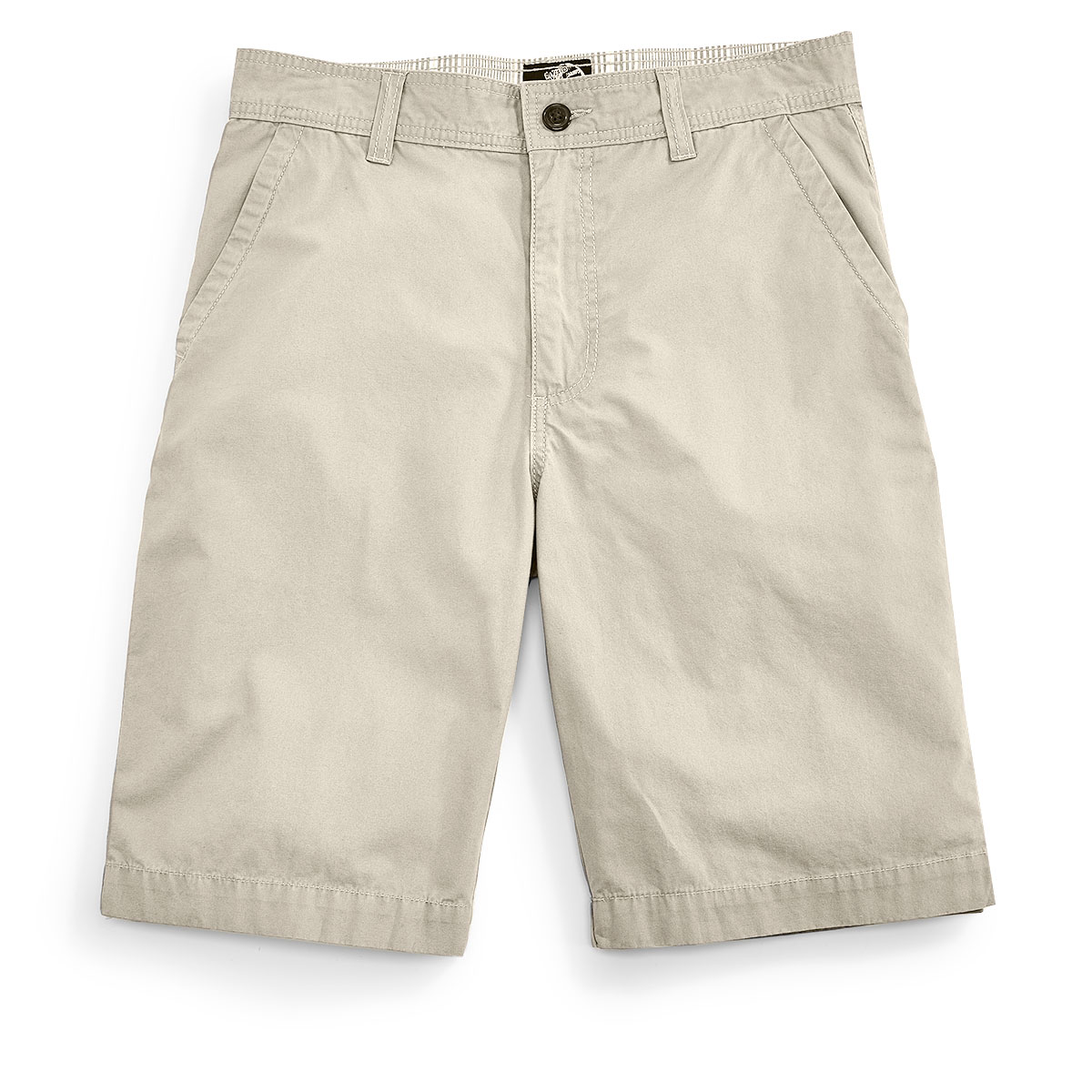 D55 Guys' Flat Front Shorts - Brown, 31