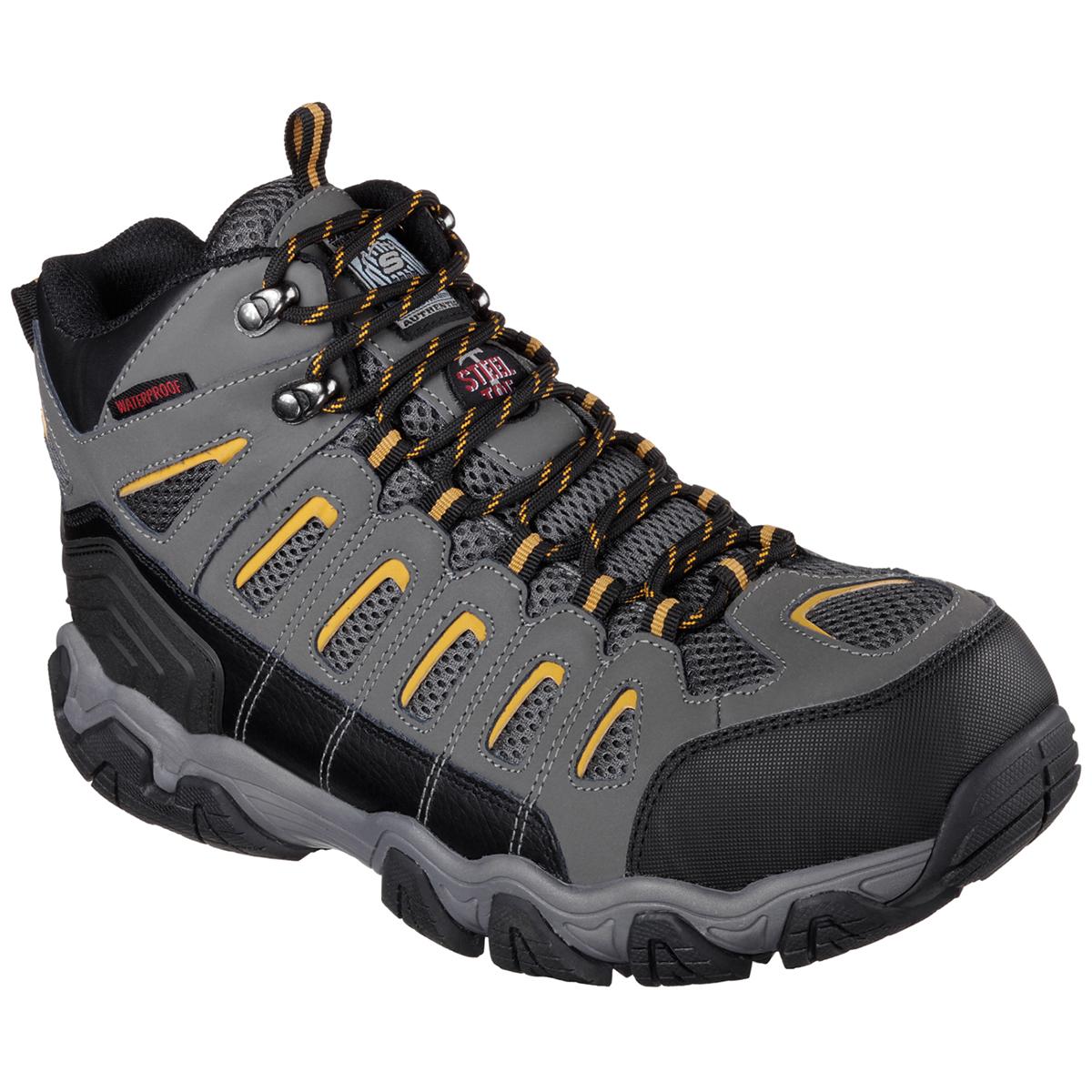 Skechers Men's Blais Bixford Steel Toe Work Shoes - Black, 10.5