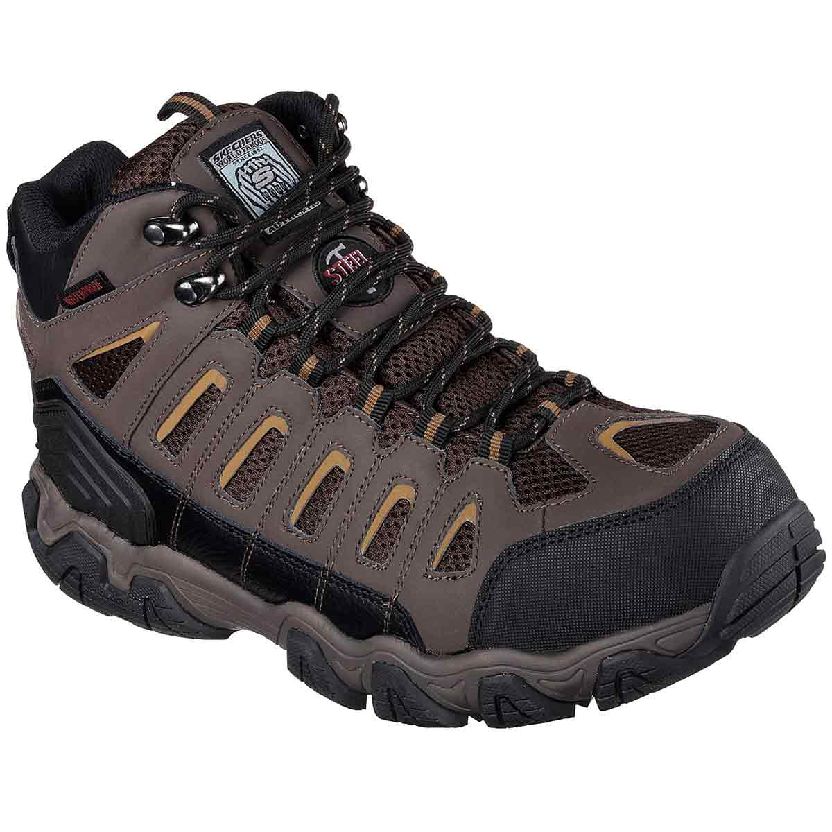 Skechers Men's Blais Bixford Steel Toe Work Shoes - Brown, 8