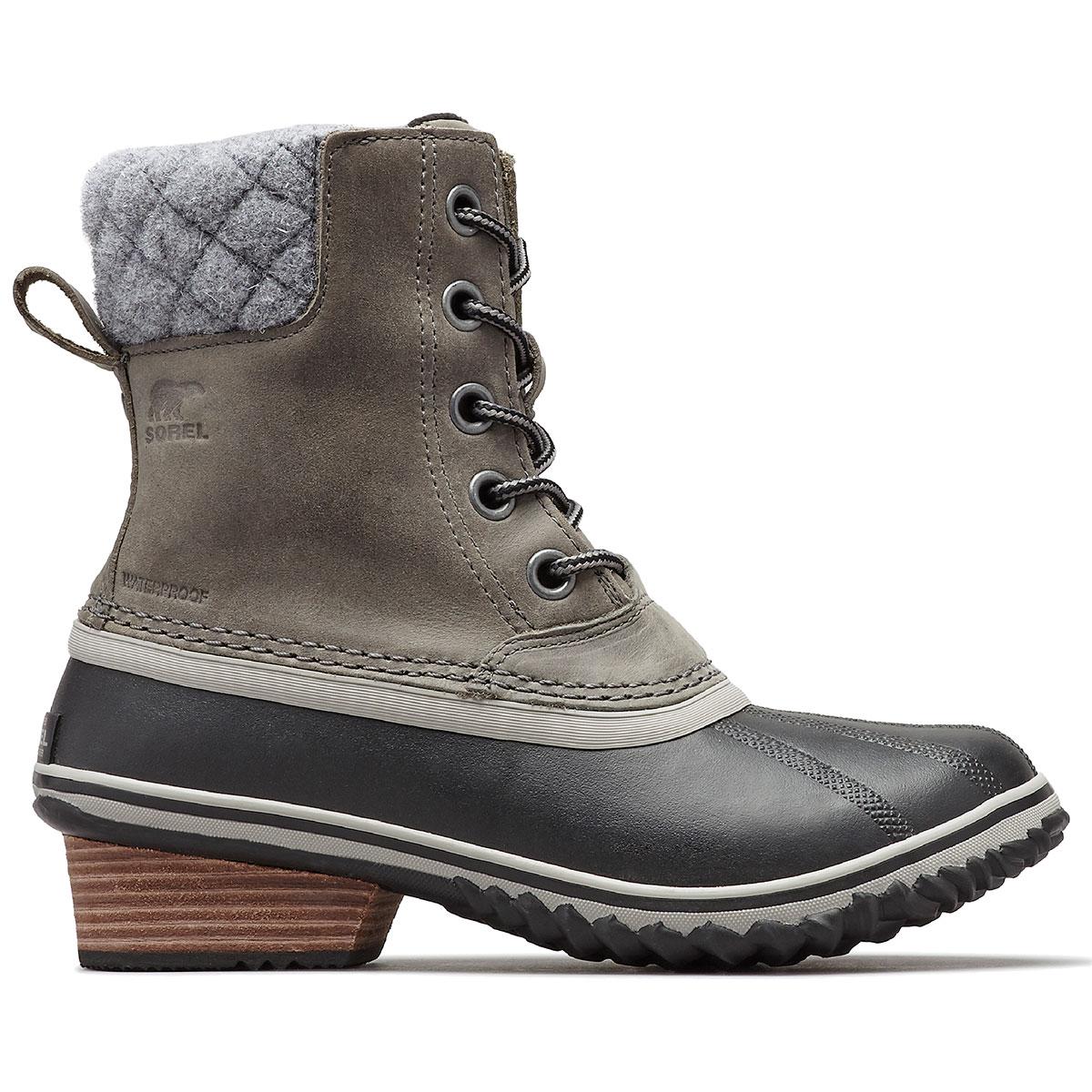 Sorel Women's Slimpack Ii Lace Boots, Elk - Black, 8