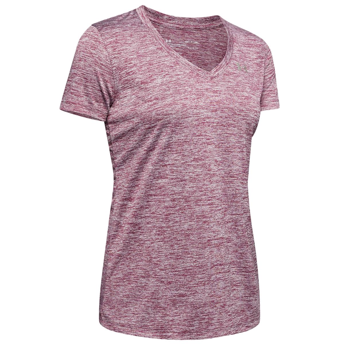 Under Armour Women's Tech Twist V-Neck Tee - Purple, S