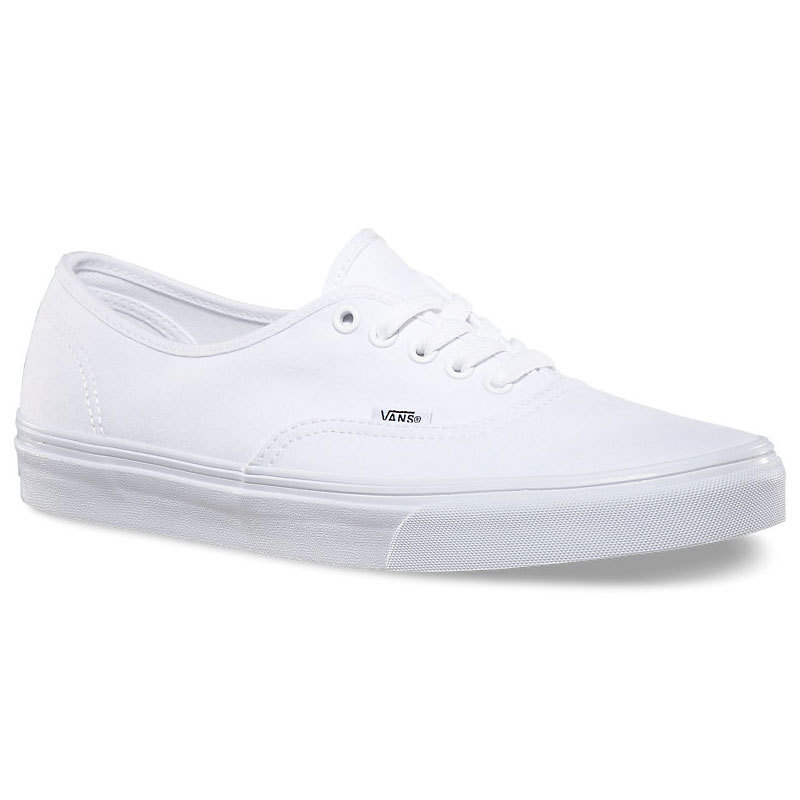 Vans Unisex Authentic Casual Shoes - White, 8.5