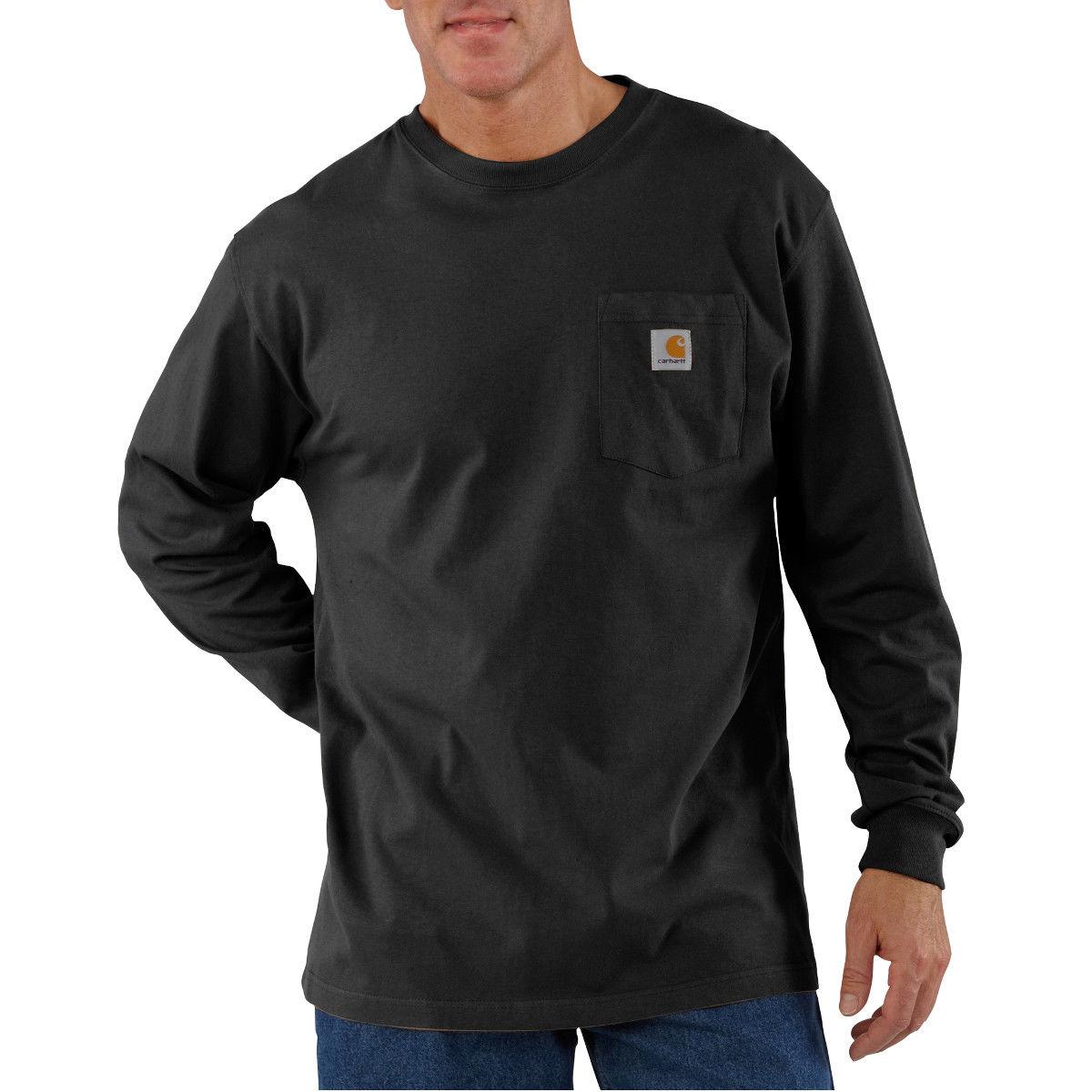 Carhartt Men's Workwear Pocket Long-Sleeve Tee - Black, 3XL