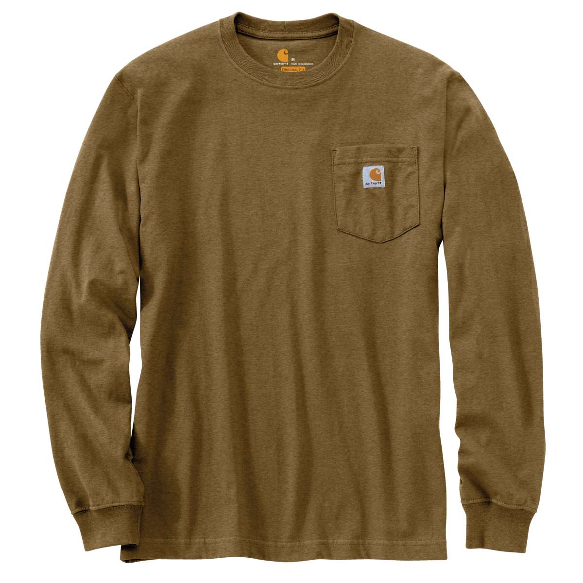 Carhartt Men's Workwear Pocket Long-Sleeve Tee - Brown, M