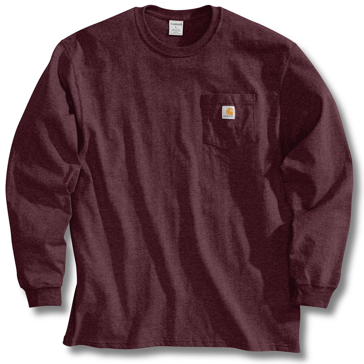 Carhartt Men's Workwear Pocket Long-Sleeve Tee - Red, S