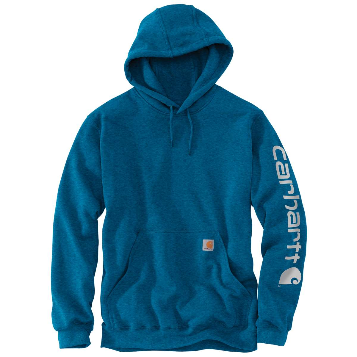 Carhartt Men's Midweight Hooded Logo Sweatshirt - Blue, S