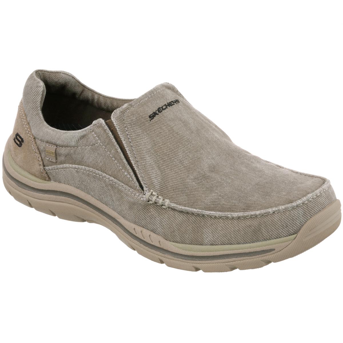 Skechers Men's Avillo Slip-On Shoes - Brown, 10.5