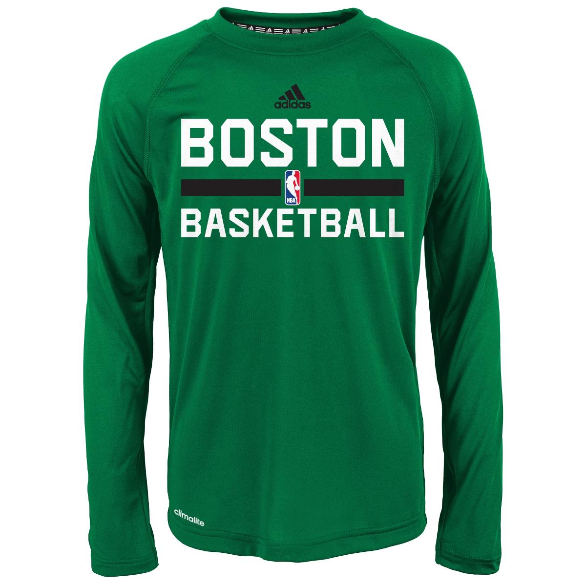 detailed look b0290 1be17 BOSTON CELTICS Boys' Practice Wear Long-Sleeve Tee - Bob's ...