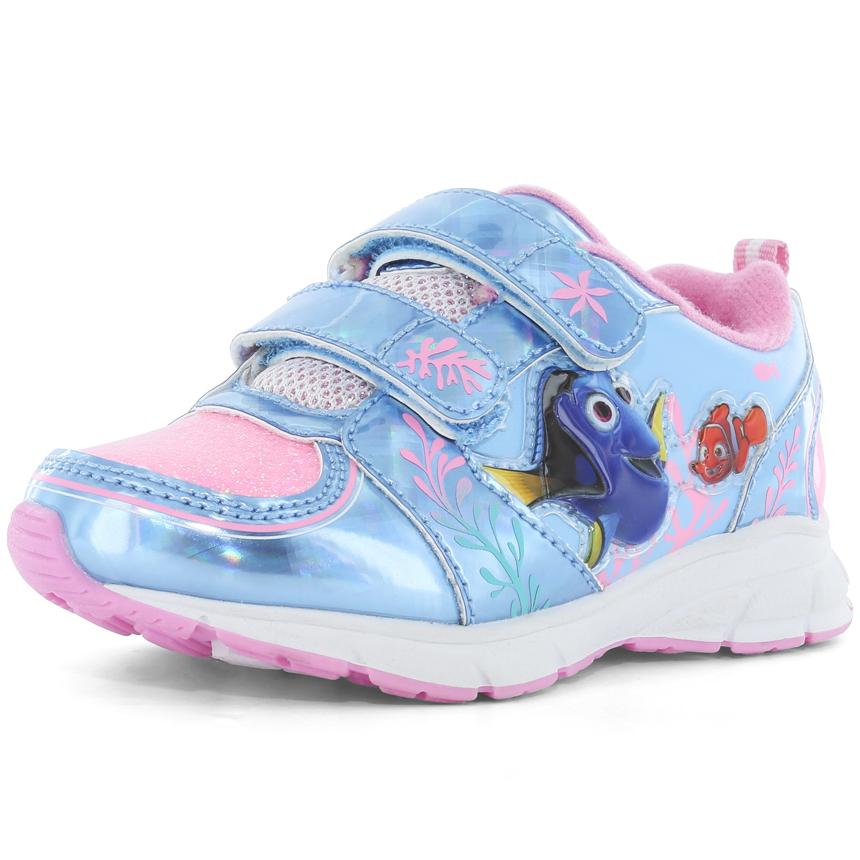 Josmo Infant Girls' Finding Dory Velcro Sneakers - Blue, 11