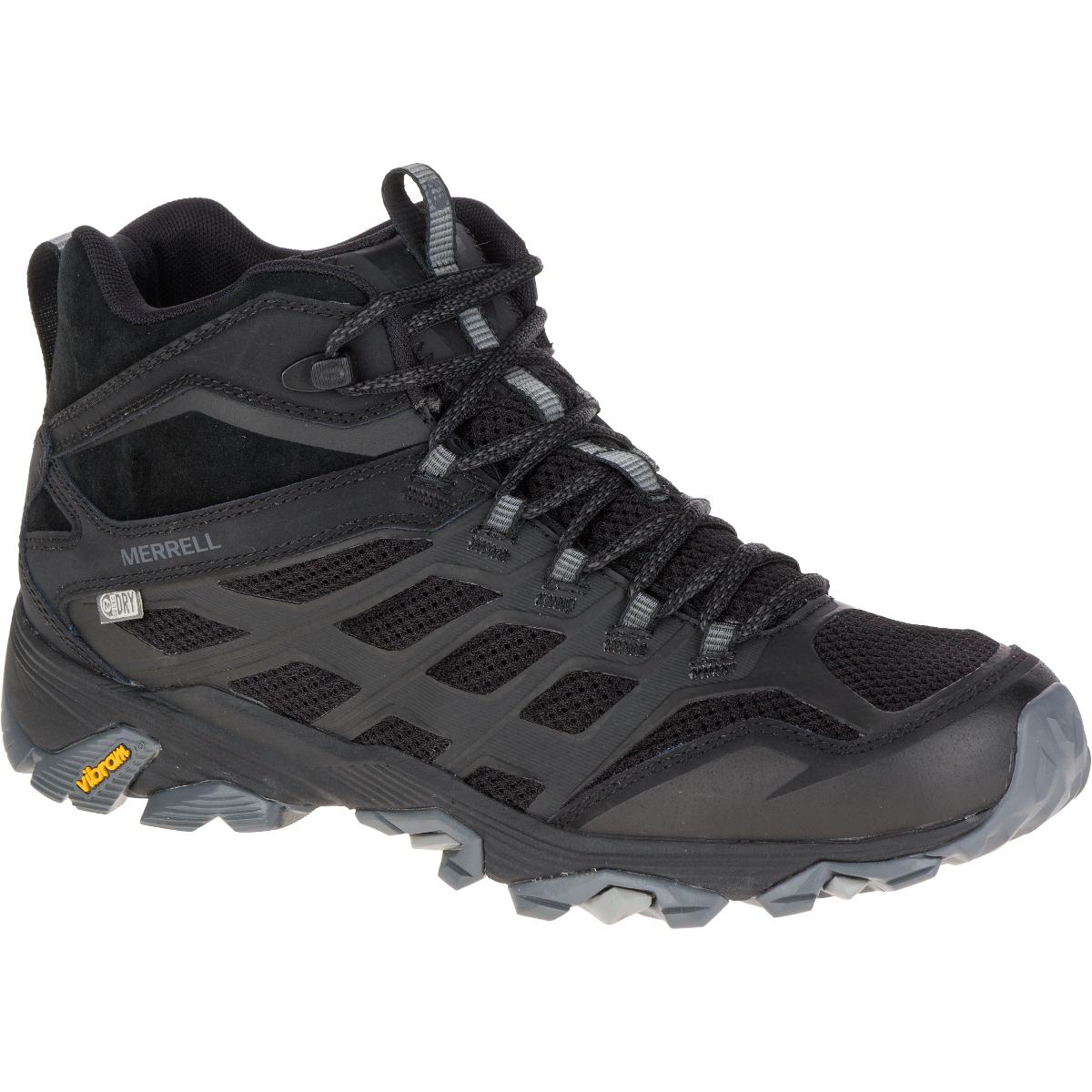 Merrell Men's Moab Fst Mid Waterproof Hiking Boots, Noire - Black, 10